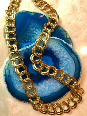 Vintage Double Loop Chain Necklace, 18""