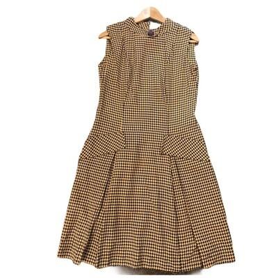 Vintage 1960's Handmade Hounds Tooth Sleeveless Dress