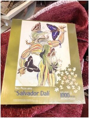 Salvador Dali Tres Picos 1000 Piece Puzzle In Box