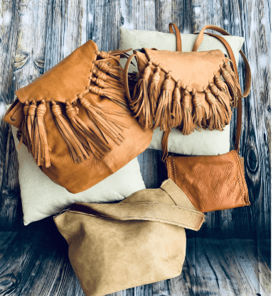 Day and Mood Leather purses