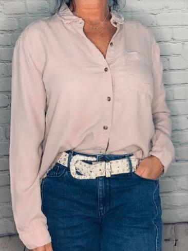 Sojara recylced pink shirt