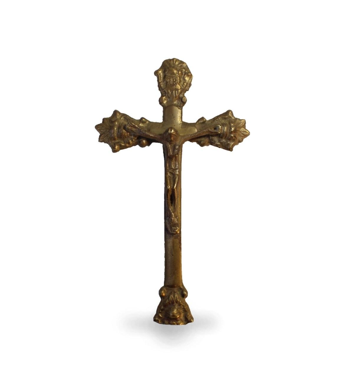 Vintage German Brass Crucifix