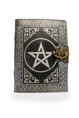 Pentagram Grimoire Leather Journal