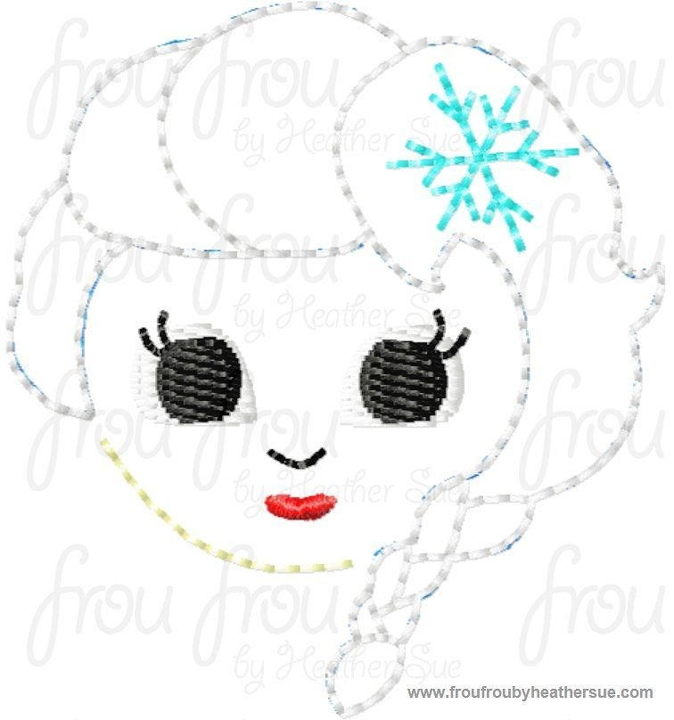 Clippie Elsie Freezing Cutie Machine Embroidery In The
