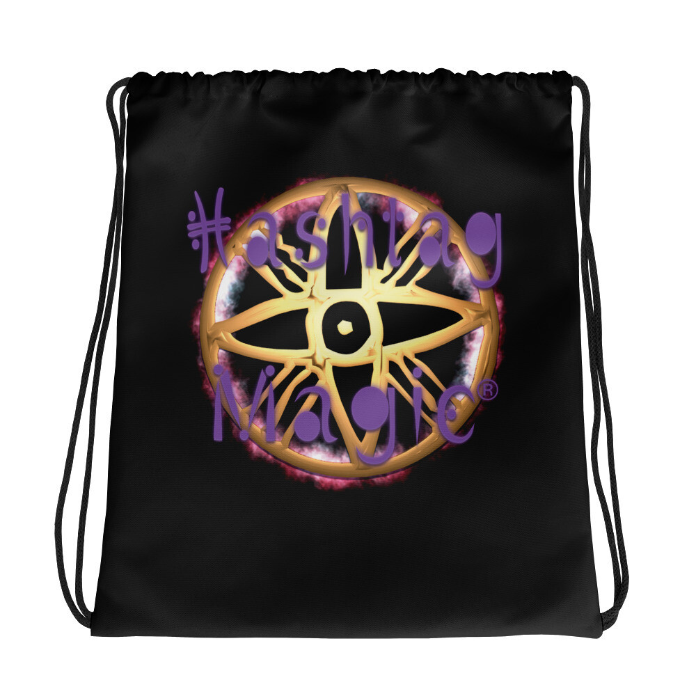 Hashtag Magic Drawstring bag