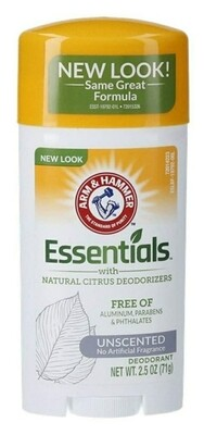 Arm & Hammer Unscented Essentials Natural Deodorant 2.5oz