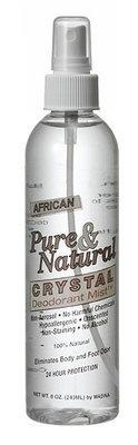 Pure & Natural Crystal Deodorant Mist - 8oz