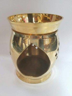 Big brass oil burner