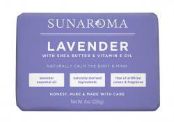 Sunaroma Soap-Lavender with Shea butter & Vitamin E Oil 8oz