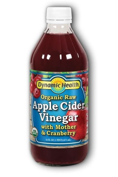 Organic Raw Apple Cider Vinegar With Mother & Cranberry 16FLoz