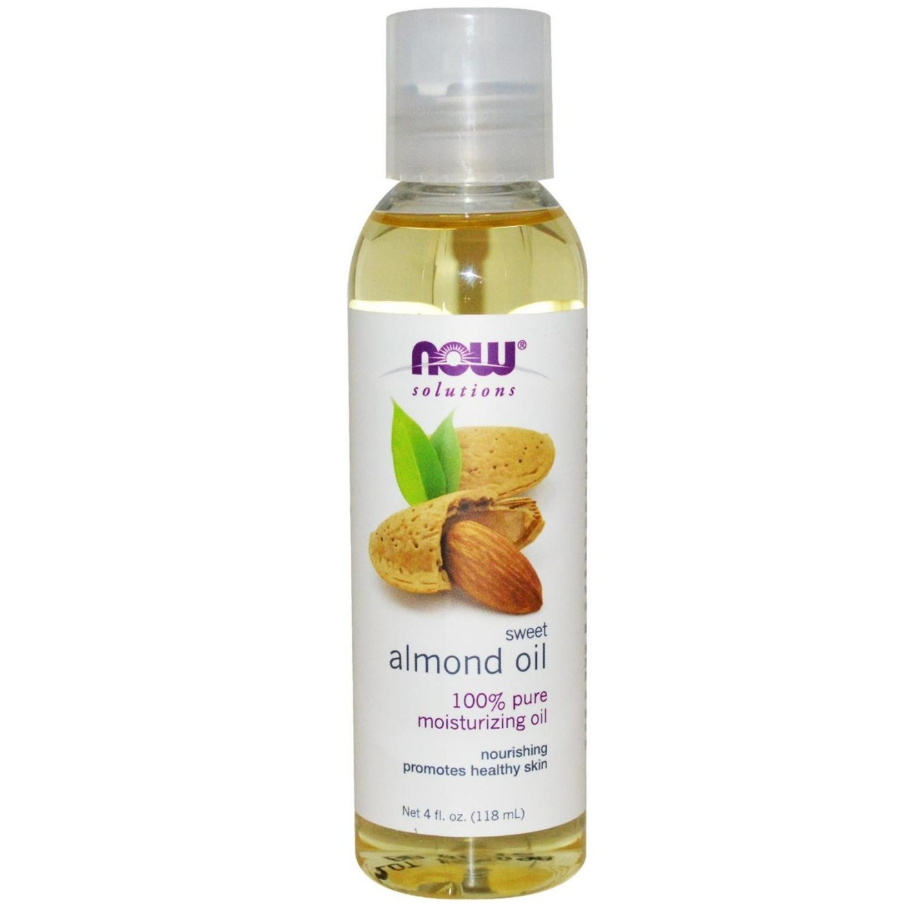 Now Solutions-Sweet Almond 100% Pure Moisturizing Oil 4 fl.oz