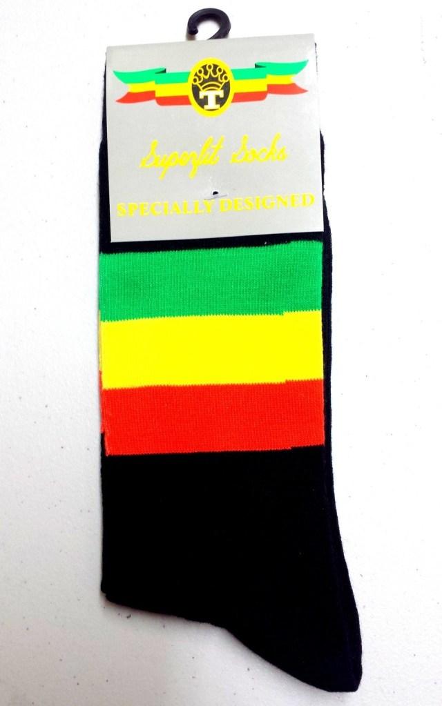 Red, Gold & Green Dress Socks