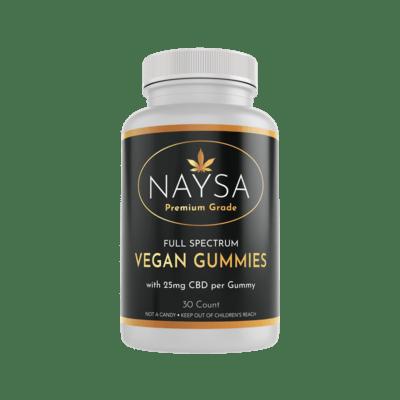 NAYSA Full Spectrum Vegan CBD Gummies 25 mg / gummy, 30 count