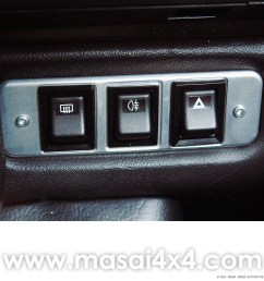 billet aluminium switch panel for 3x switches for land rover defender tdci td5 [ 1000 x 1000 Pixel ]