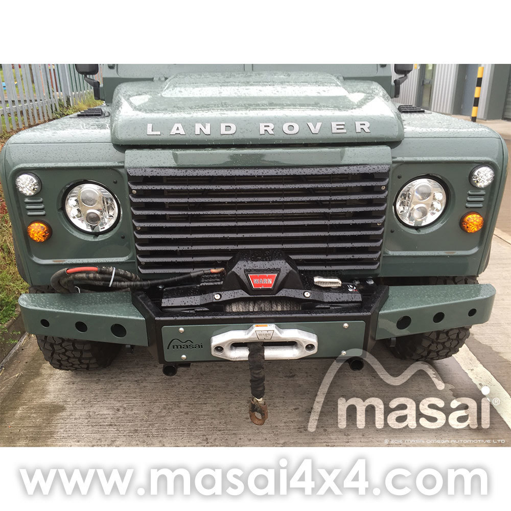 hight resolution of masai warrior front winch bumper for land rover defender silver black
