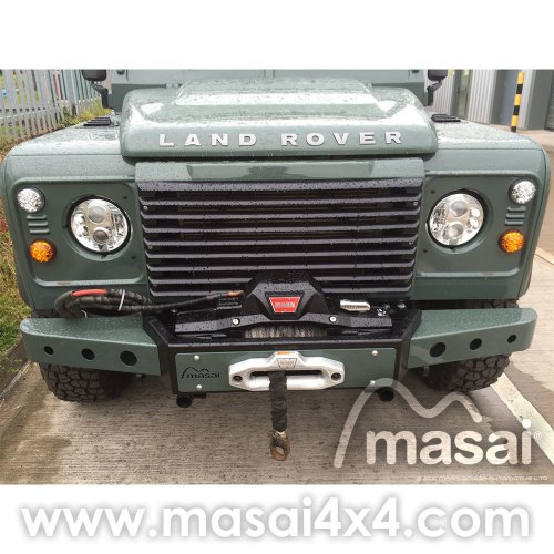 small resolution of masai warrior front winch bumper for land rover defender silver black