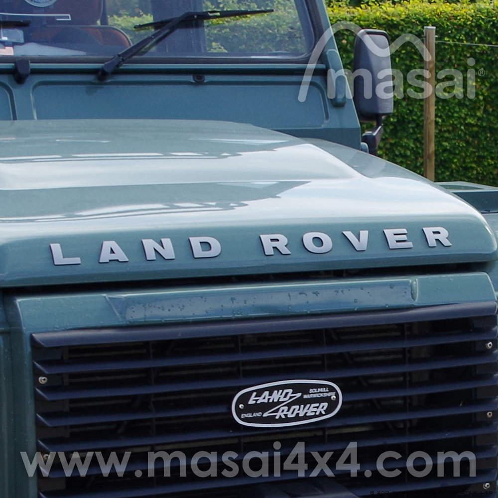 medium resolution of  land rover bonnet raised 3d lettering decal silver