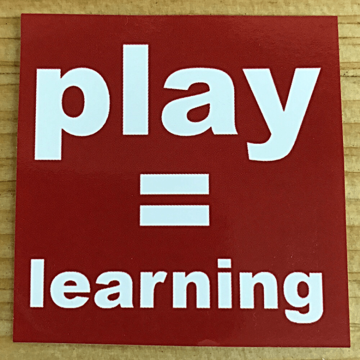 Play = Learning Sticker