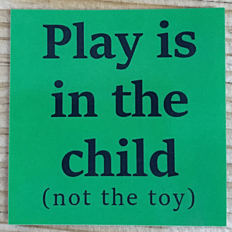 Play Is In The Child Sticker