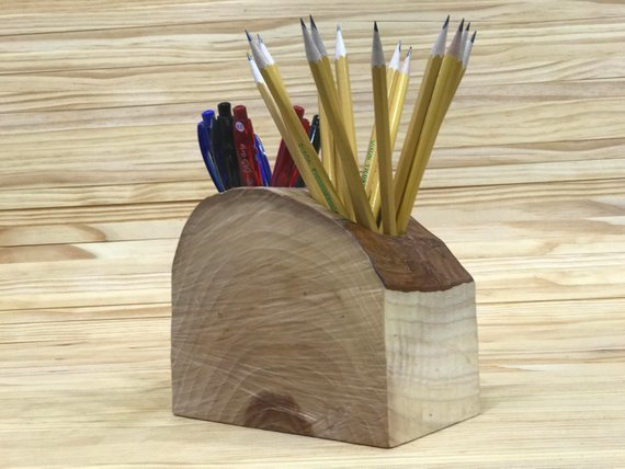 Wooden Pencil Holder | Wooden Pen Holder | Desk Organizer | Wooden Desk Organizer