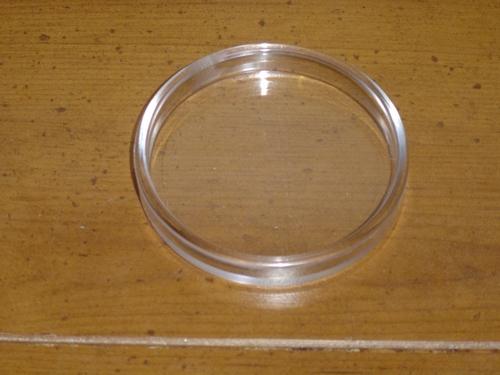 Clear Tough Plastic Castor Cups 00035