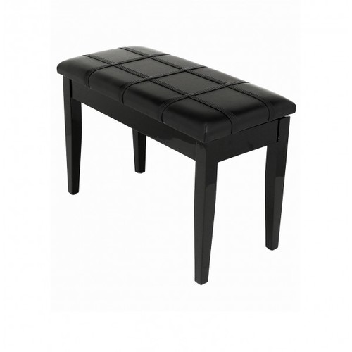 Dolce - Piano Stool with Music Book Storage - Polished Ebony 00042
