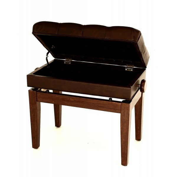 Symphony - Adjustable Piano Stool - Polished Walnut