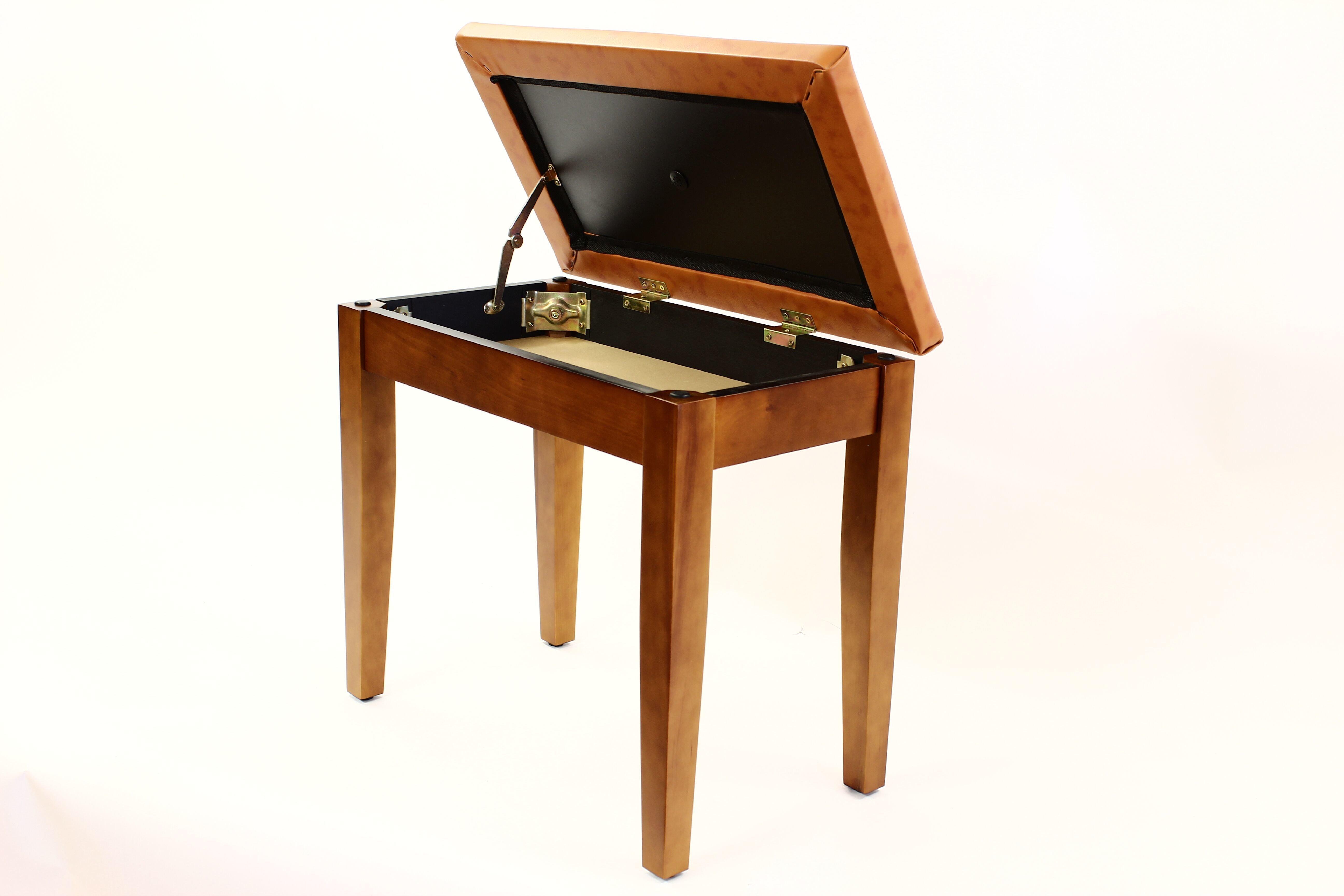 Coda Piano Stool Walnut with Storage