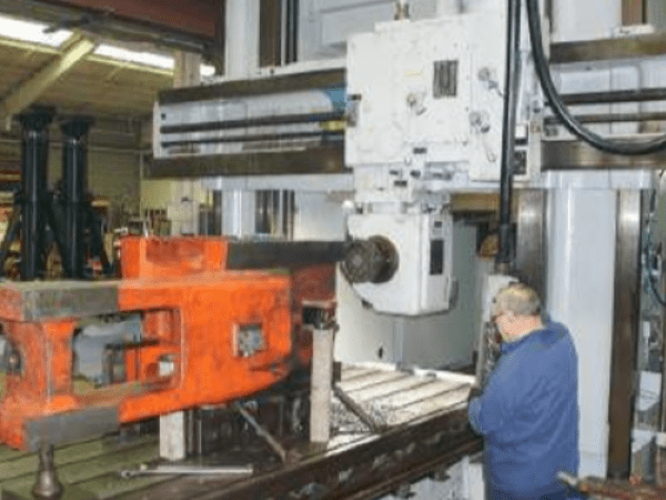 """1 – USED 60"""" X 78"""" X 14' ROCKFORD DOUBLE HOUSING ADJUSTABLE RAIL MILLING MACHINE (PLANER MILL)"""