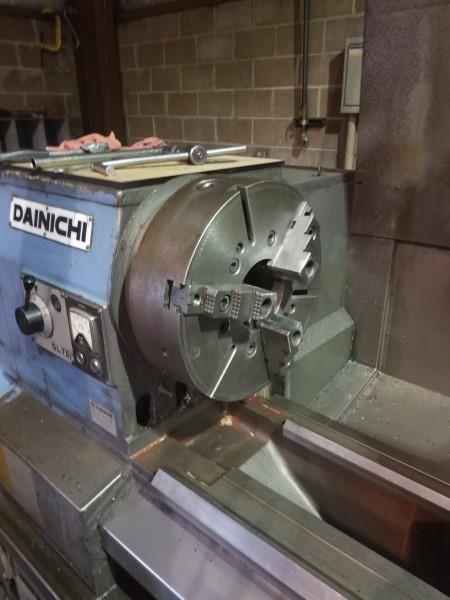 """1 – USED 32"""" X 14' DANICHI CNC LATHE, FANUC 20-T"""