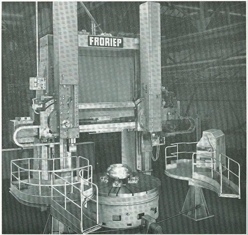"1 – USED 120/132"" FRORIEP DOUBLE COLUMN VERTICAL BORING MILL, MODEL 10KZ300 C-2756"
