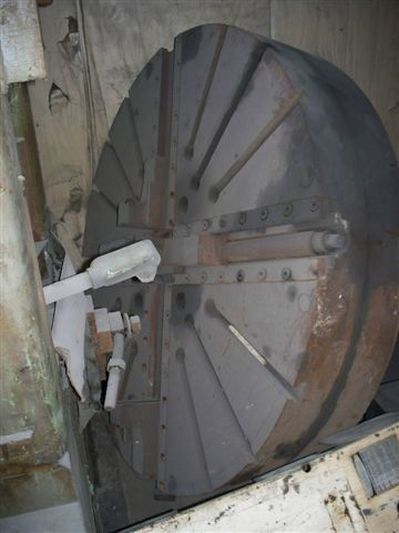 "1 - USED 72"" DIAMETER  HEAVY DUTY 4-JAW CHUCK C-3162"