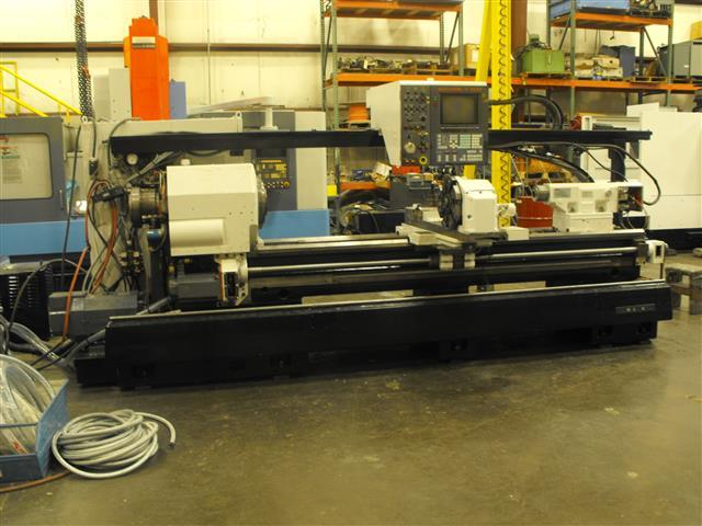 "1 - USED 24"" X 80"" MAZAK BIG BORE CNC M-5N LATHE C-3788"