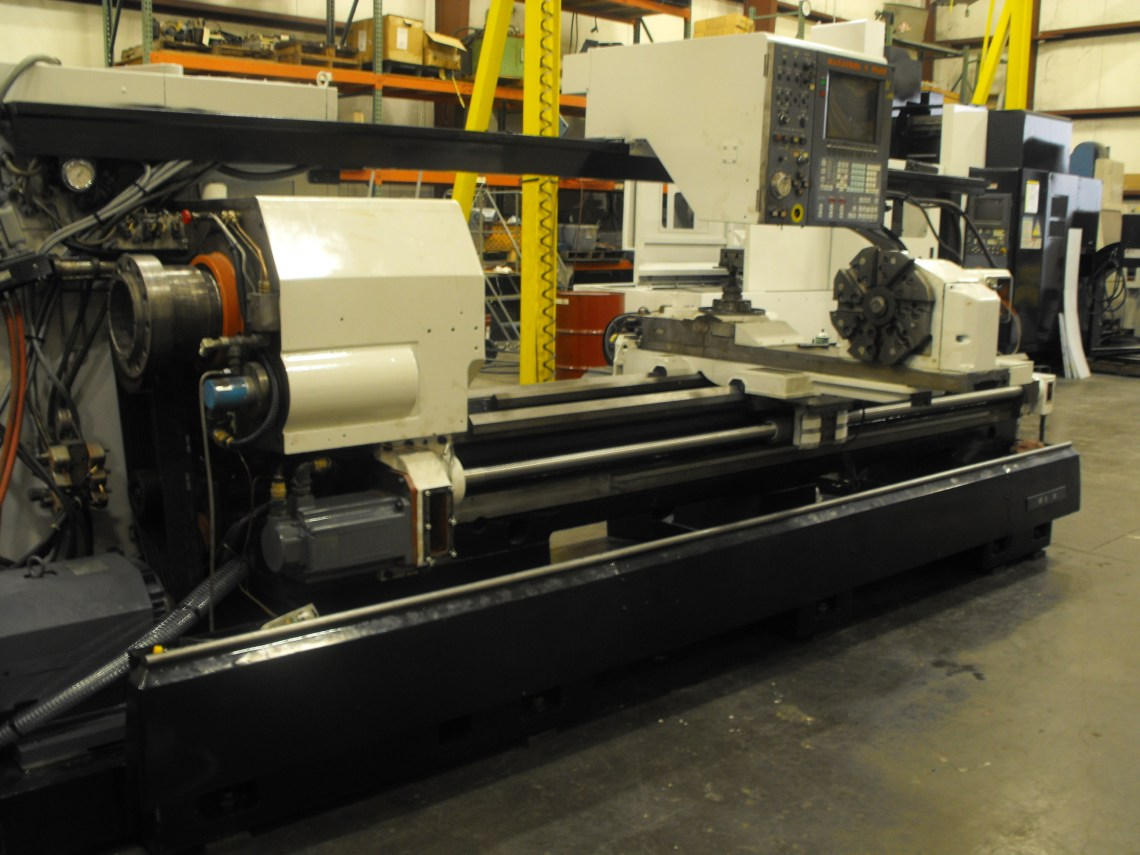 "1 - USED 24"" X 80"" MAZAK BIG BORE CNC M-5N LATHE"