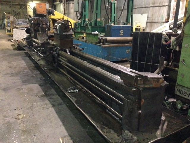 "1 – USED 51"" X 20' AMERICAN RAISED GEARED LATHE C-4095"