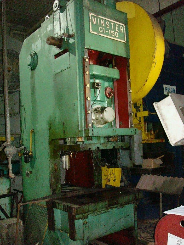 1 - USED 150 TON MINISTER GAP FRAME PUNCH PRESS