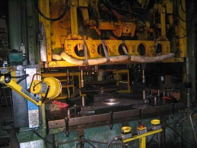 1 – USED 200 TON WARCO STRAIGHT SIDE, DOUBLE CRANK TRANSFER DIE PRESS MODEL 200-2-84E