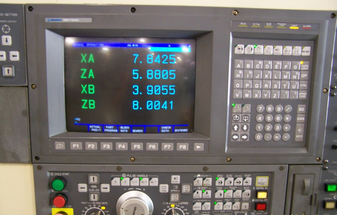 "1 - USED 22"" X 33"" OKUMA LU-15 CNC 4-AXIS TURNING CENTER"