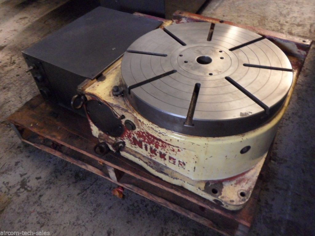 """1 – USED 20"""" NIKKEN CNC ROTARY TABLE C-4168"""