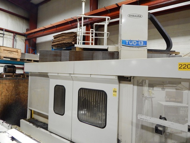 "1 – USED 50"" TOSHIBA CNC MODEL TUD-13APC TWIN PALLET VERTICAL BORING MILL"