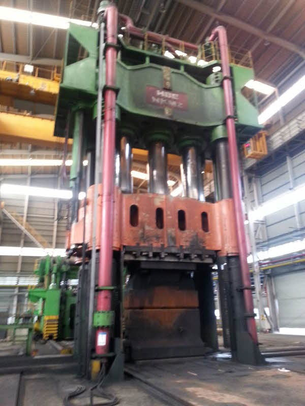 1 - USED 900 TON HBE HYDRAULIC OPEN DIE HOT FORGING PRESS WITH 120 TON MANIPULATOR C-4267