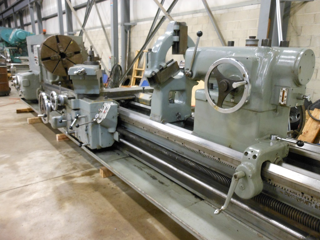 "1 - USED 46"" X 168"" AMERICAN PACEMAKER STYLE H6 HEAVY DUTY ENGINE LATHE C-4402"
