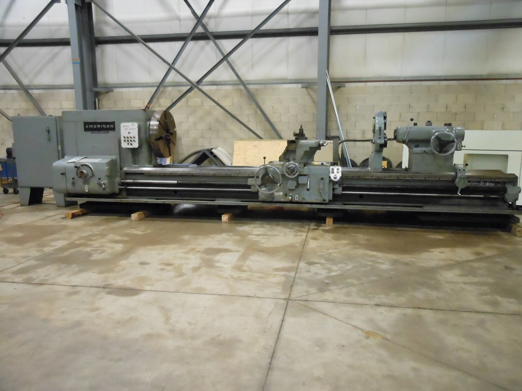 """1 - USED 46"""" X 168"""" AMERICAN PACEMAKER STYLE H6 HEAVY DUTY ENGINE LATHE"""