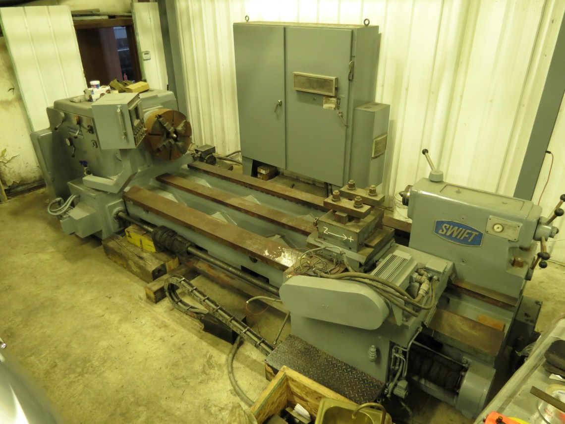 "1 - USED 34"" X 96"" CRAWFORD SWIFT CNC ROLL TURNING LATHE C-4308"