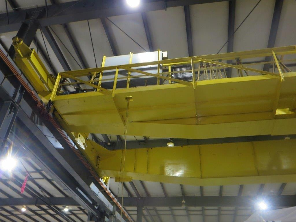 1 – USED 30 TON WHITING TOP RUNNING DOUBLE GIRDER OVERHEAD BRIDGE CRANE