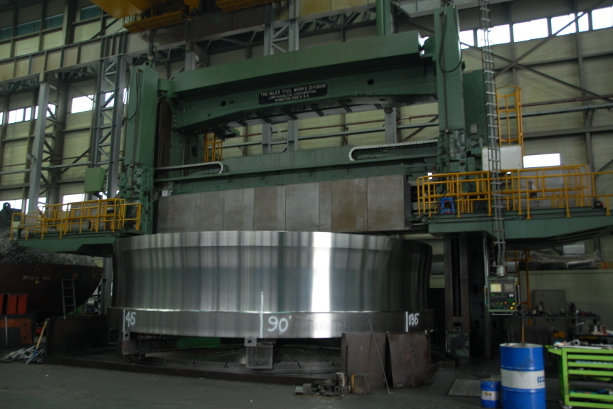 """1 – USED (300"""") 7,620mm X (360"""") 9,144mm NILES CNC DOUBLE COLUMN VERTICAL TURNING LATHE C-4448"""