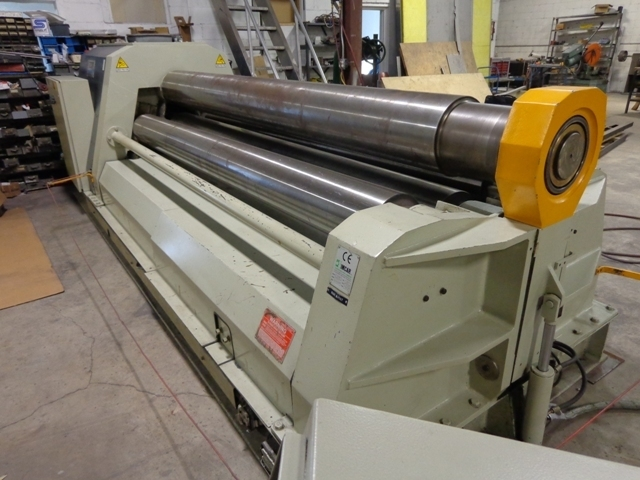 "1 – USED 10' X ½"" CARELL FOUR ROLL CNC PLATE ROLL"