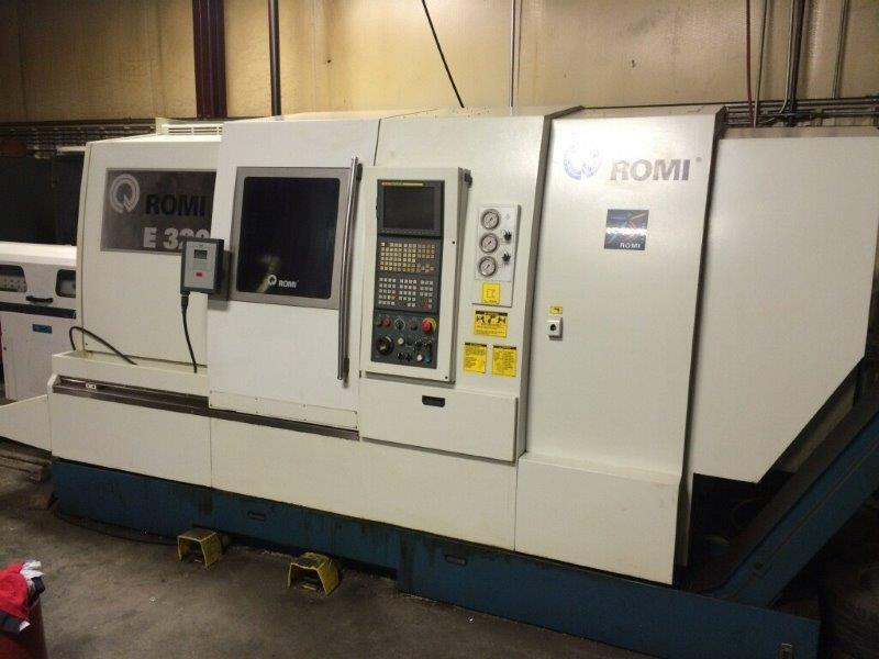 "1 – USED ROMI E320-BMY MULTI-AXES CNC TURNING CENTER WITH SUB-SPINDLE, LIVE TOOLING & ""Y"" AXIS"