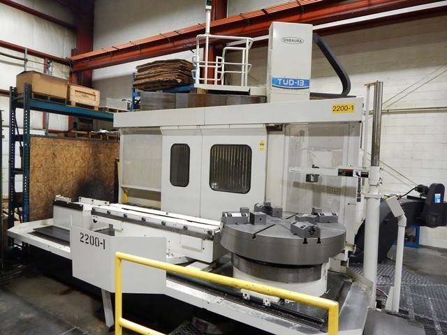 "1 – USED 50"" TOSHIBA CNC MODEL TUD-13APC TWIN PALLET VERTICAL BORING MILL​ C-4228"