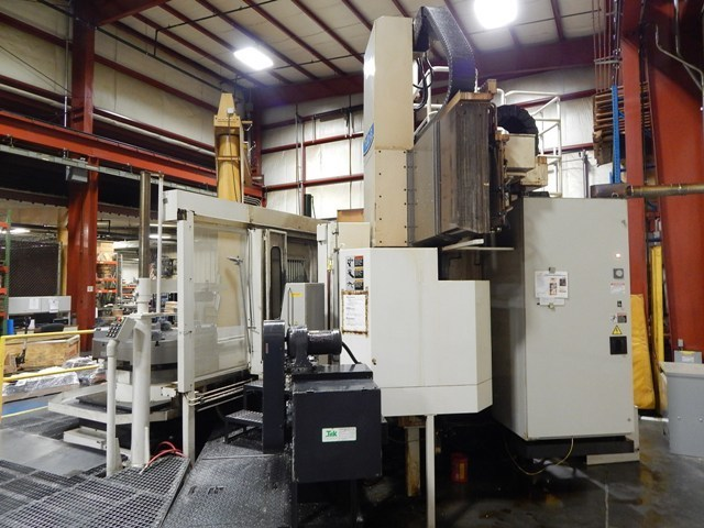 "1 – USED 50"" TOSHIBA CNC MODEL TUD-13APC TWIN PALLET VERTICAL BORING MILL​"